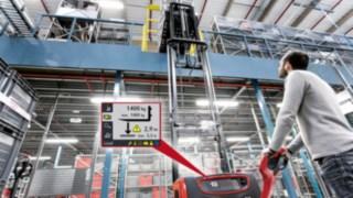 Für mehr Sicherheit beim Warenhandling sorgt ab sofort das Assistenzsystem für Hochhubwagen, Linde Load Management.
