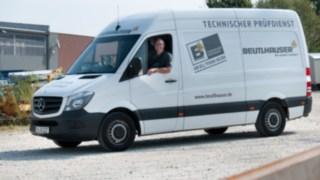 Beutelhauser Prüfsienst Fahrzeug für Safe Work mit Fahrer