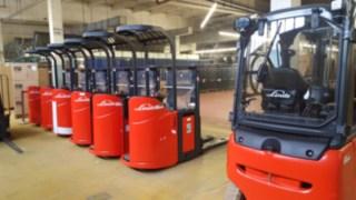 Die neue einheitliche Flurförderzeug-Flotte bei der TWD Fibres GmbH